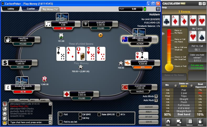 advanced poker calculator software